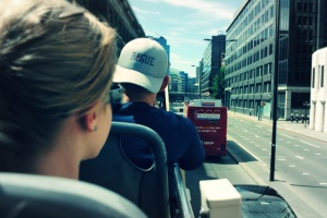 Traveling in Lodon via Double Decker Bus